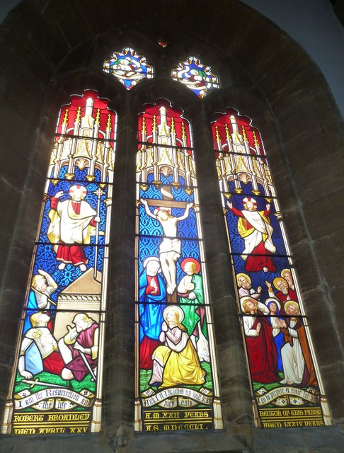 St Mary, Bridport: stained glass window (h)
