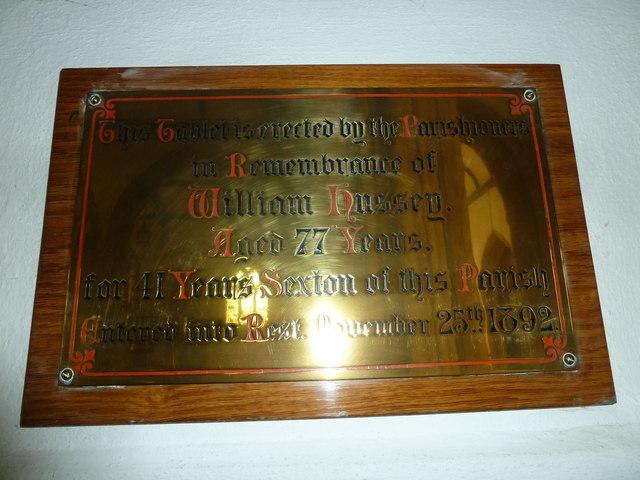 St Mary, Bridport: memorial (I)