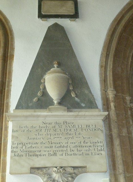 St Mary, Bridport: memorial (II)