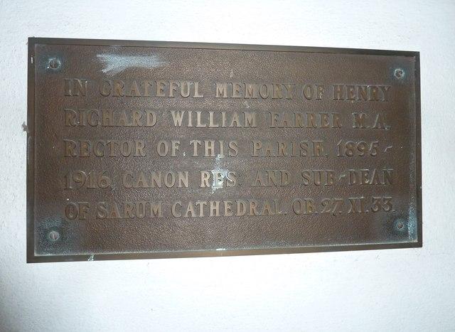 St Mary, Bridport: memorial (IV)