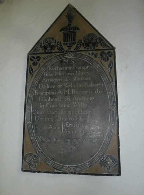 St Mary, Bridport: memorial (VI)