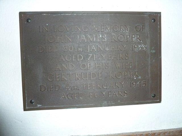 St Mary, Bridport: memorial (VII)