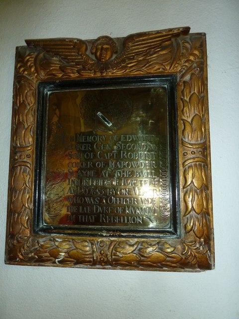 St Mary, Bridport: memorial (XI)