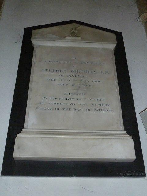 St Mary, Bridport: memorial (XII)