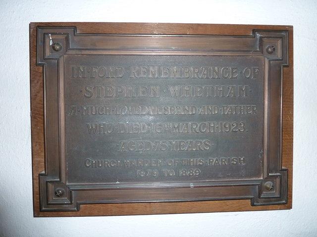 St Mary, Bridport: memorial (XVI)