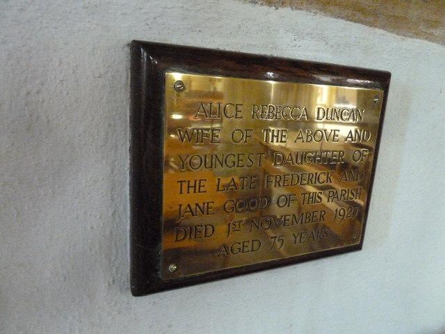 St Mary, Bridport: memorial (XIII)