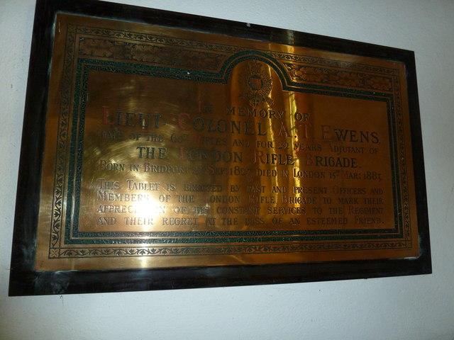 St Mary, Bridport: memorial (XV)