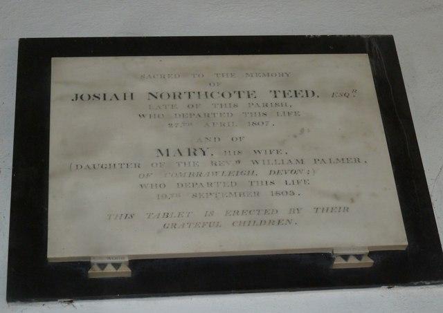 St Mary, Bridport: memorial (XXI)