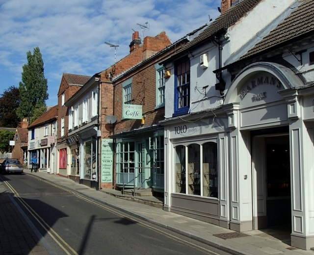 Shops on Queen Street, Southwell