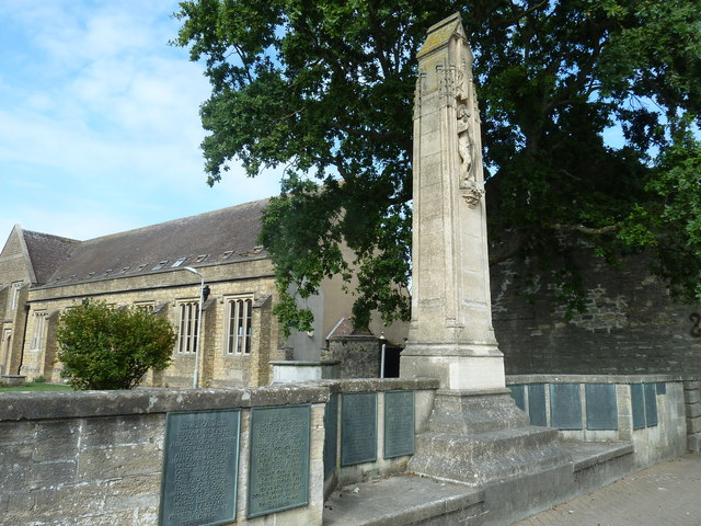 War memorial outside St Mary, Bridport