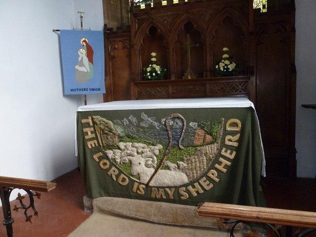 St Mary, Bridport: side altar