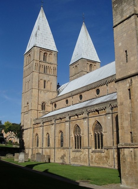 View to the west end of Southwell Minster