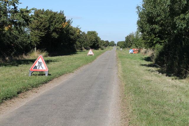 Roadworks on High Dike