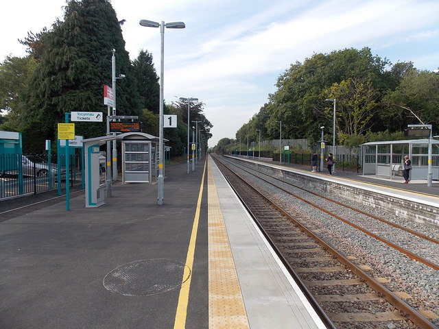 Platform 1 at Gowerton railway station