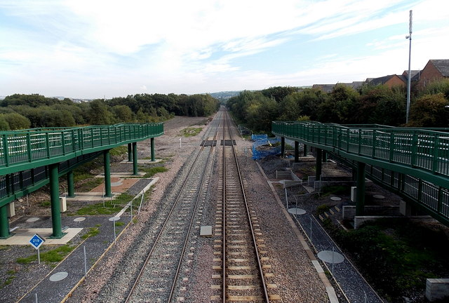 West Wales Line SE of Gowerton railway station