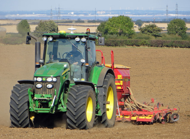 Seed Drilling on Elsham Hill