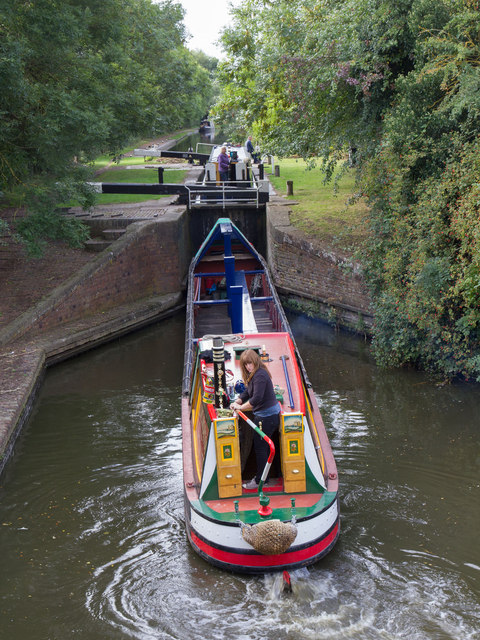 Birmingham and Fazeley Canal: Lock No 8
