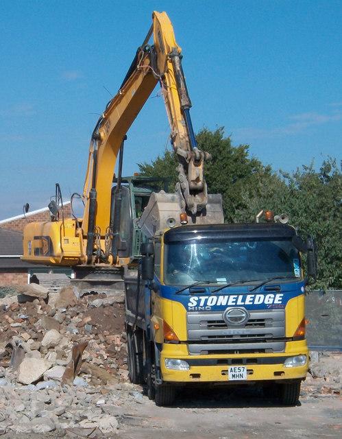 Demolition of the Carnival Inn