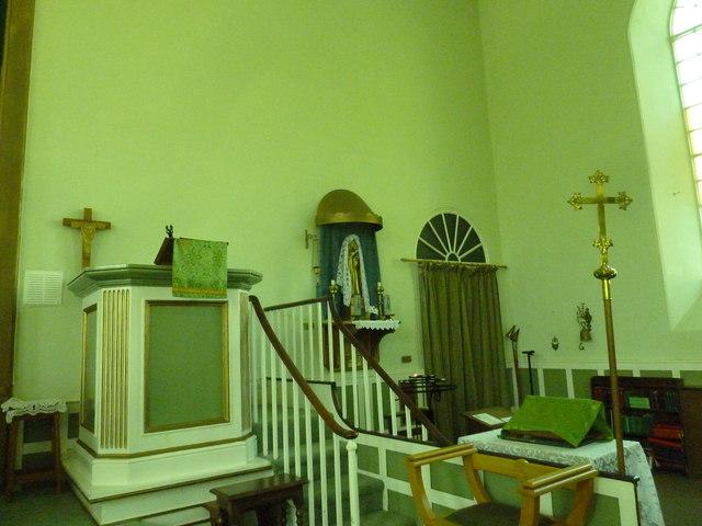 Inside St. Swithun, Allington (4)