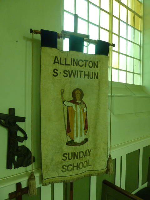 St. Swithun, Allington: banner (ii)