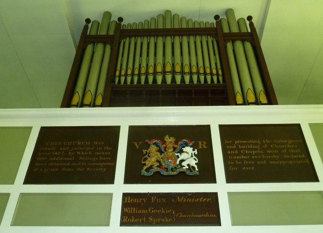 St. Swithun, Allington: organ