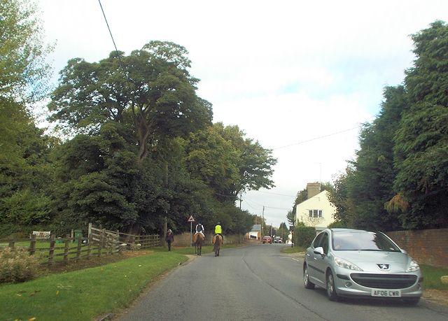 Road through Mursley village