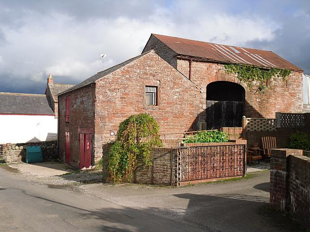 Old red sandstone buildings in Back Street