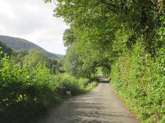 Waterfall Street south of Pen-y-bryn Hall