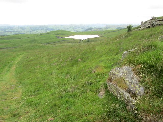 Path between Potter Tarn and Gurnal Dubs