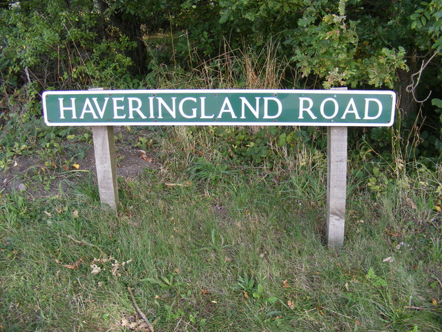 Haveringland Road sign