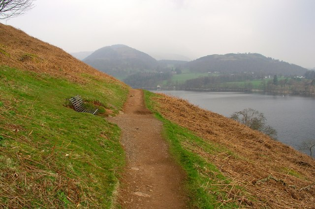 Footpath below Geordie Crag Ullswater