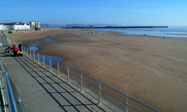 A sandy beach, Swansea