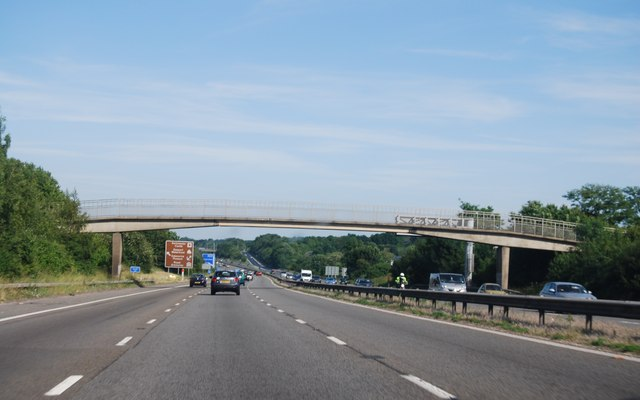 Footbridge over the M27