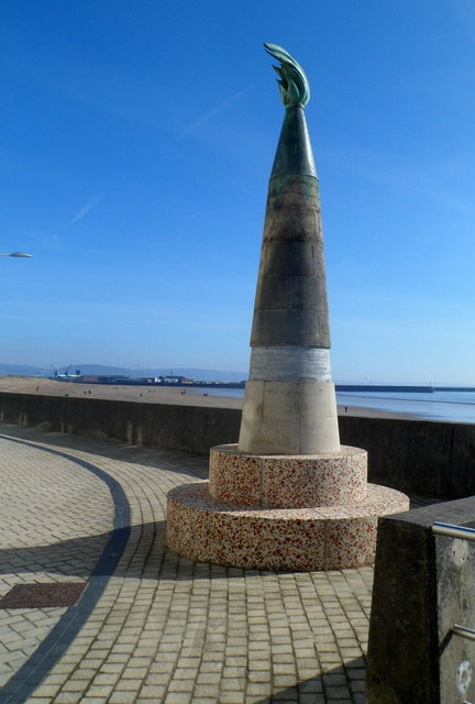 Copper Flame sculpture, Swansea