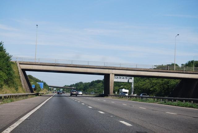 J11 overbridge, M27