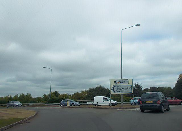 Elfield Park roundabout