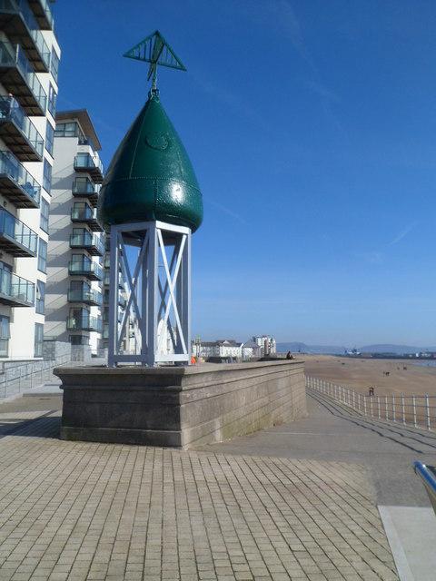 Navigation Buoy sculpture Swansea