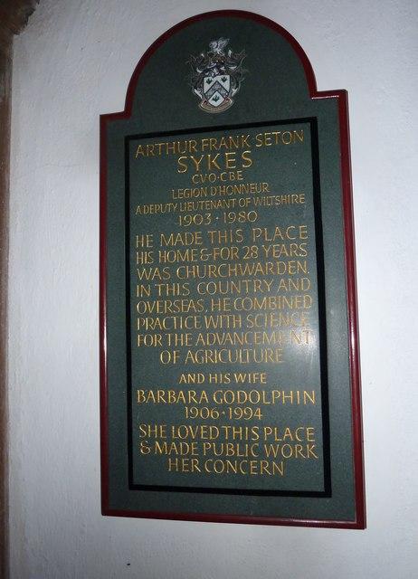 St John the Baptist, Stockton: memorial (b)