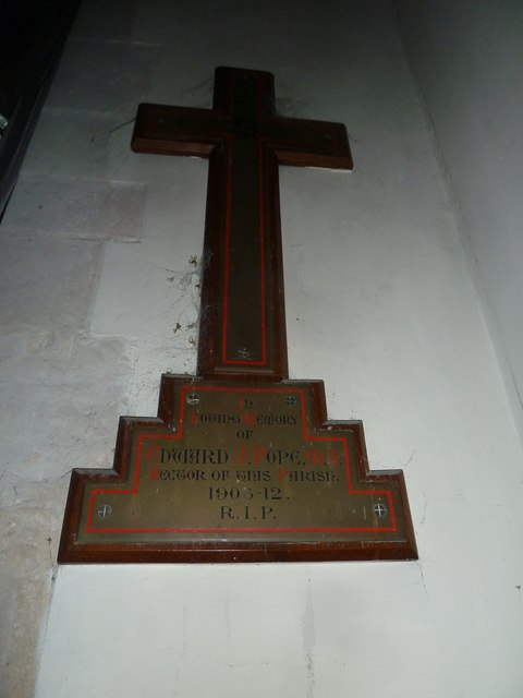 St John the Baptist, Stockton: memorial (d)
