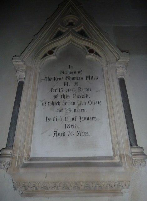 St John the Baptist, Stockton: memorial (h)