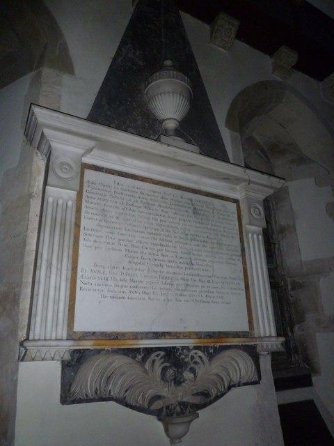 St John the Baptist, Stockton: memorial (i)