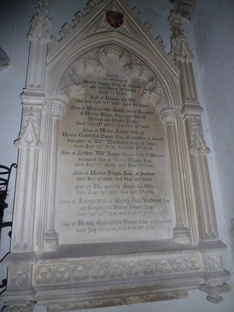 St John the Baptist, Stockton: memorial (n)
