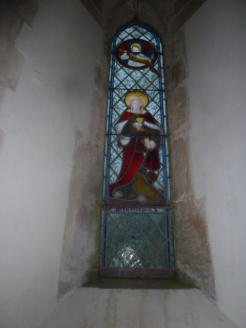 St John the Baptist, Stockton: stained glass window (B)