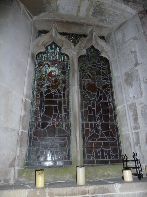 St John the Baptist, Stockton: stained glass window (D)