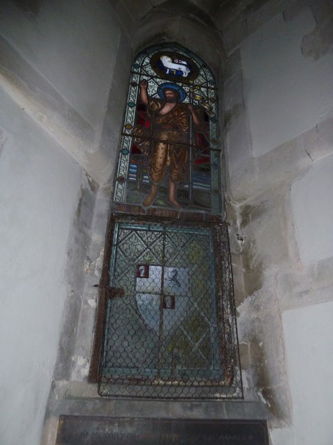St John the Baptist, Stockton: stained glass window (F)