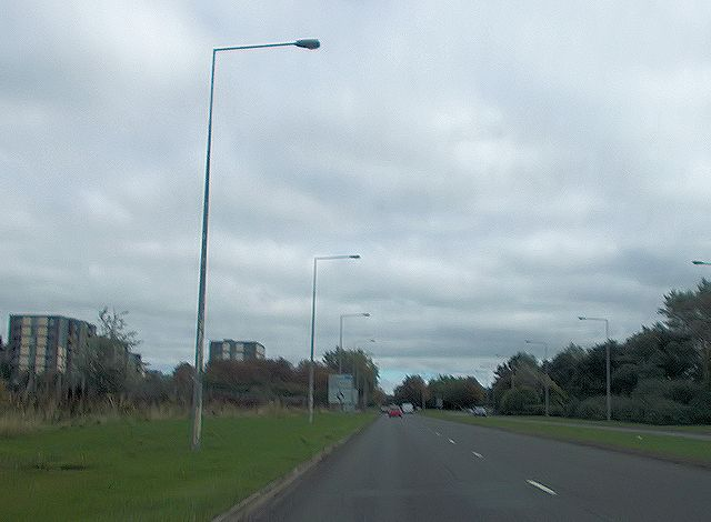 Childs Way approaching South Witan roundabout