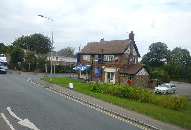 The post office on Chester Road, Sandiway