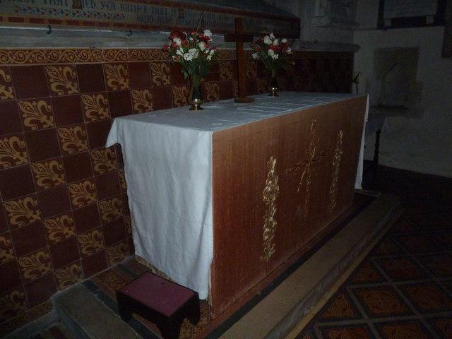 St John the Baptist, Stockton: altar