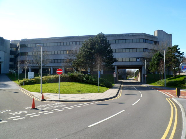 Road under Swansea Civic Centre