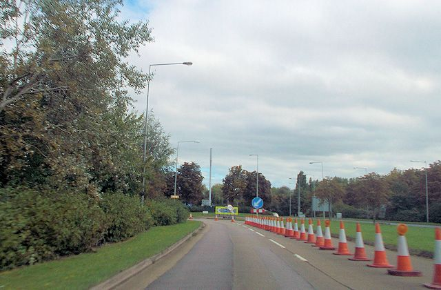 Approaching South Overgate roundabout from Childs Way